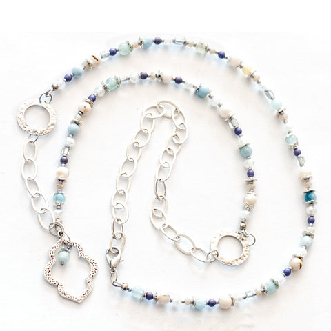 Aquamarine Beach Adjustable Necklace