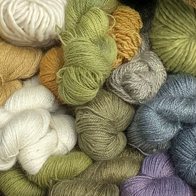 Mohair Yarn Naturally Dyed