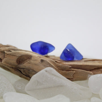Mini Sea Glass Stud Earrings