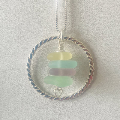 Circular Sea Glass Stack