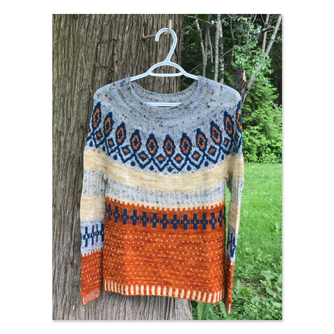 Colour Work Hand Knit Sweater