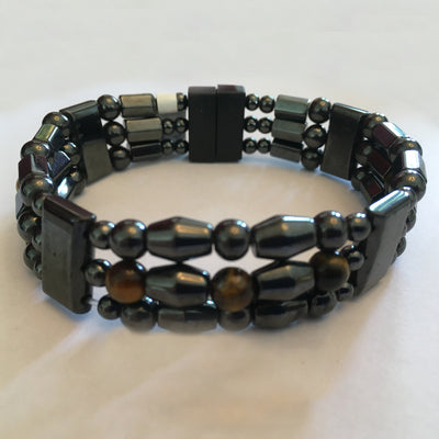 Magnetite Triple Tiger Eye Bracelet