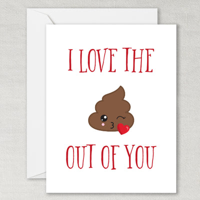 Poop Emoji Greeting Card
