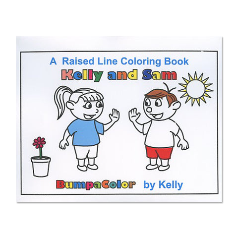 Kelly and Sam Braille Colouring Book