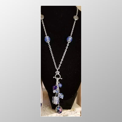 Gemstone droplet necklace combo