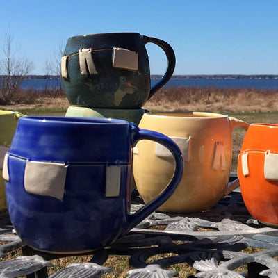 Clothesline Pottery Mugs