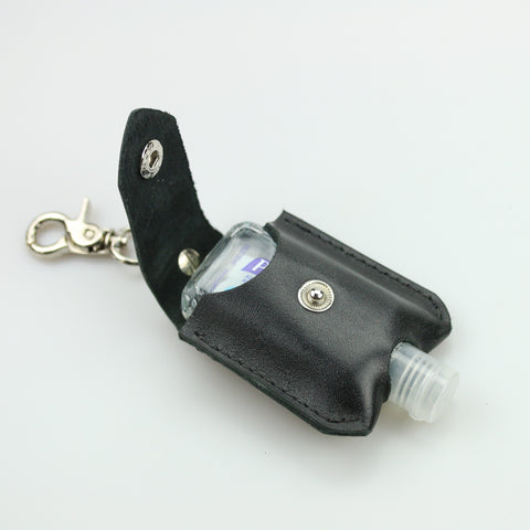 Leather Hand Sanitizer  Keychain