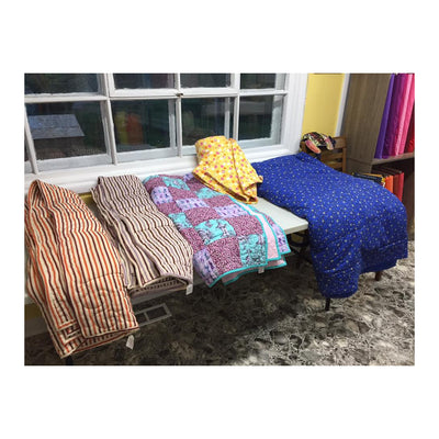 Custom-made traditional and weighted quilts