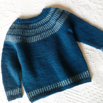 Hand Knit Merino Wool Pullover Sweater