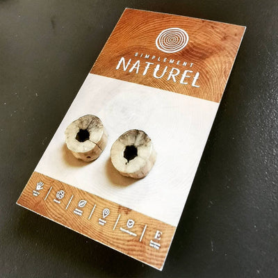 Beach wood earring