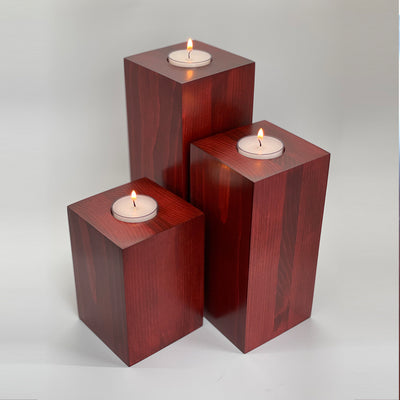 Pillar style candle holders (set of 3)