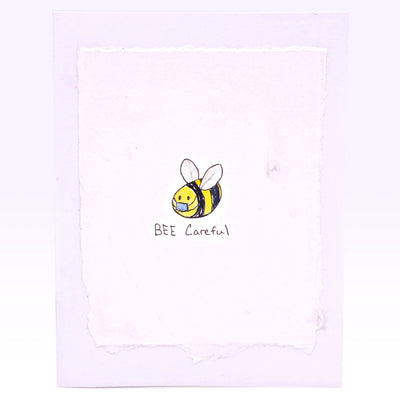 Bee Careful Hand-painted Blank Cards
