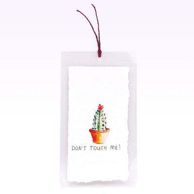 Hand-painted Bookmark - Don't Touch Me
