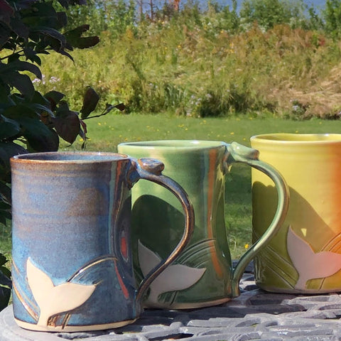 Whale Tail Beer Mugs