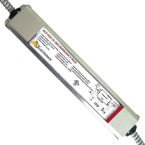 ACE-H20-55-380C  EMERGENCY BACK-UP 20W LED DRIVER Input Voltage: 120-277V, 50.60Hz, Surge Rating 3Kv