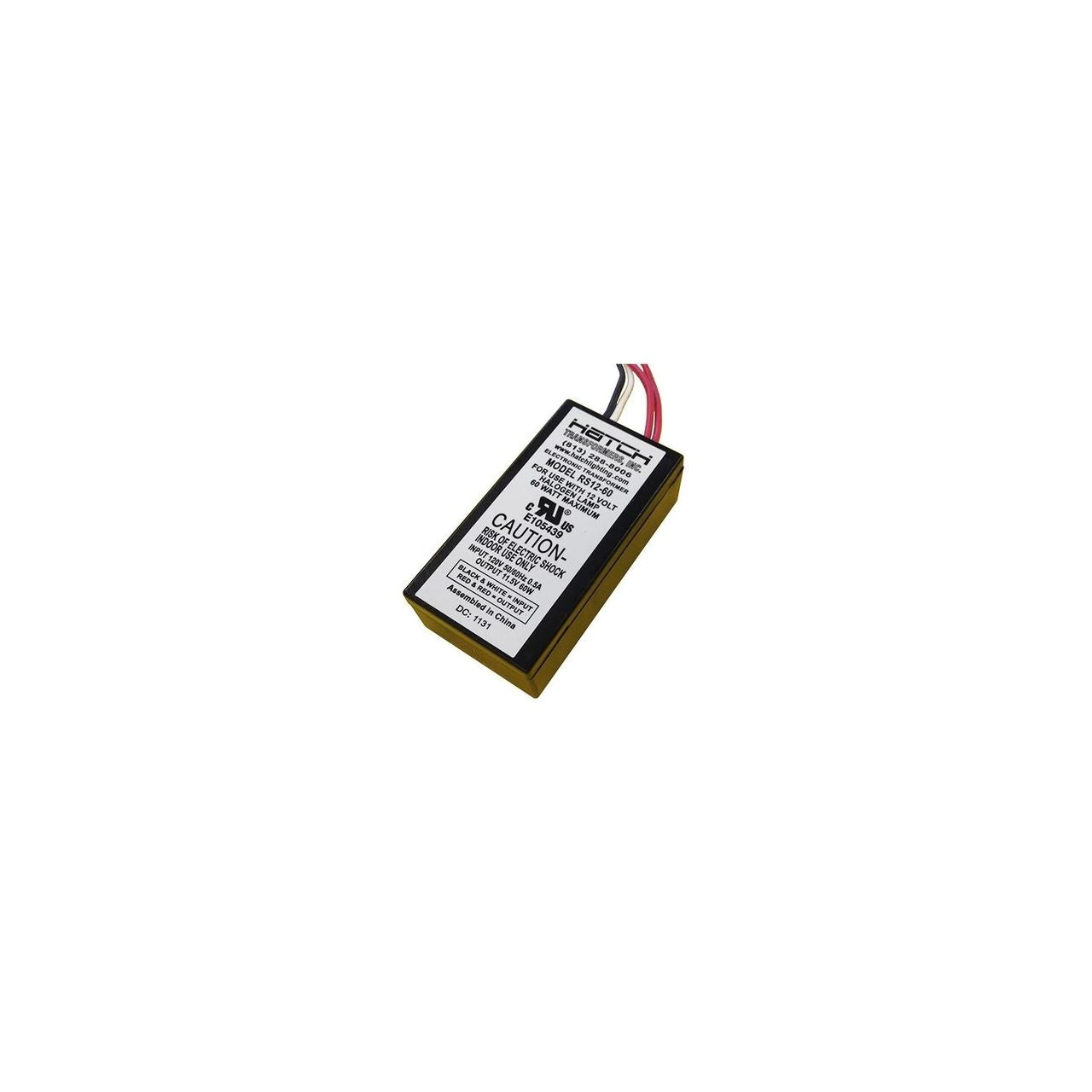 RS12-60 - 60w dimmable transformer - 120v-12v - Hatch
