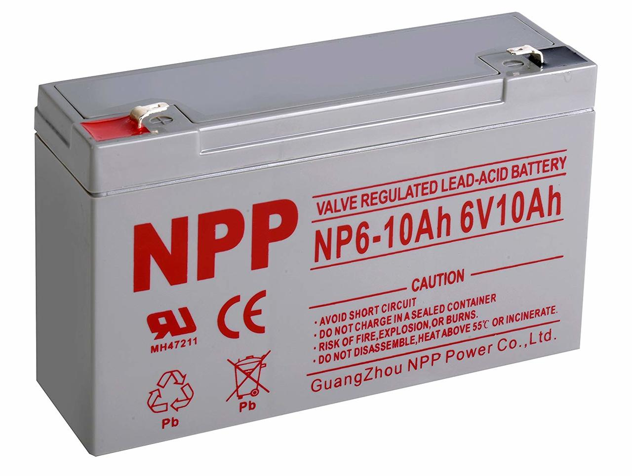 SLA Battery - 6v 10ah