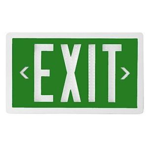 Green Tritium Self Luminated Exit Sign