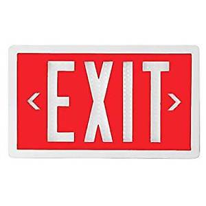 Red Tritium Self Luminated Exit Sign