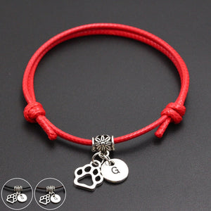 925 Sterling Silver Fish Lucky Rouge Corde Bracelet handmade Bangle Wax String