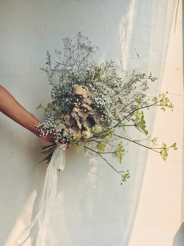 dried bridal bouquet, late summer early fall