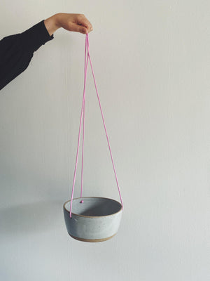 Pots - Kristie Forwick Ceramic Hanging Pot - Grey - Kristie Forwick - The Wild Bunch Florist - Vancouver Flower Shop Delivery