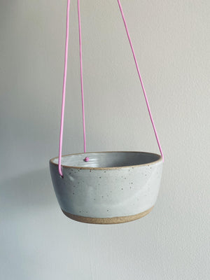 Kristie Forwick Ceramic Hanging Pot - Grey