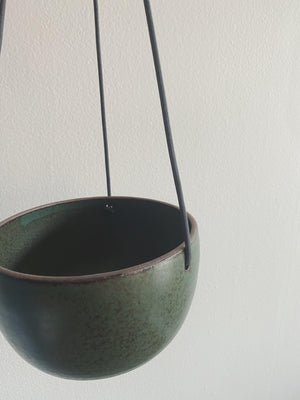 Kristie Forwick Ceramic Hanging Pot - Green