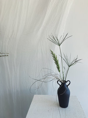Caitlin Prince Ceramic Vase with Dried Palms
