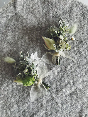 Weddings - Pin-On Wearable Flowers - The Wild Bunch Weddings - The Wild Bunch Florist - Vancouver Flower Shop Delivery