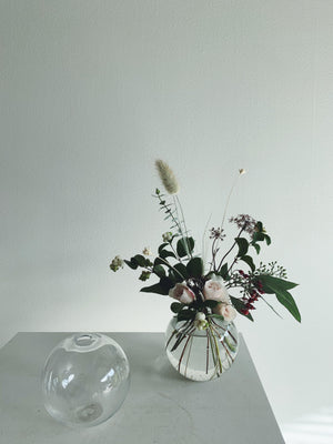 Vases - Goodbeast Bud Vase - Clear Round - Goodbeast - The Wild Bunch Florist - Vancouver Flower Shop Delivery