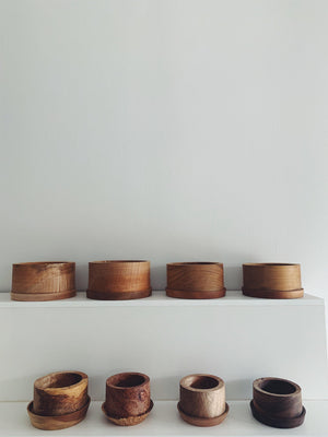 Elise McLauchlan Wood Pots with Tray