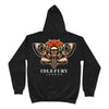 Death's-head Hawkmoth - Black Hoodie - Front & Back Print