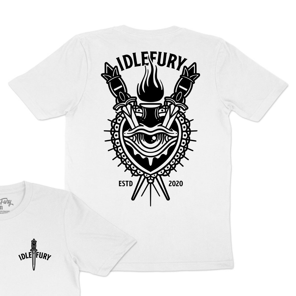 Sacred Heart - Black T-Shirt - Front & Back Print