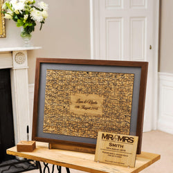 Jigsaw Guestbook - personalised jigsaw with handmade wooden frame