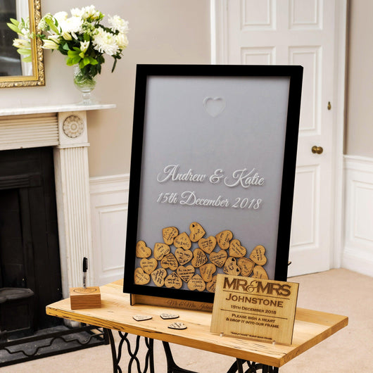 Sign Your Name Frame Wedding Guestbook Dropbox Stag Design