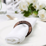 Personalised napkin rings