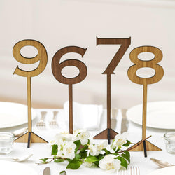 Table numbers for weddings and celebrations
