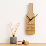 Personalised bottle shaped clock