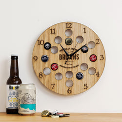 Personalised beer cap clock