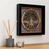 Family Tree with names engraved in a circle - wooden tree design