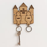 Personalised castle key ring holder