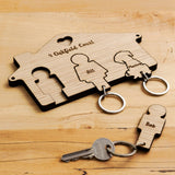 Personalised house key ring holder
