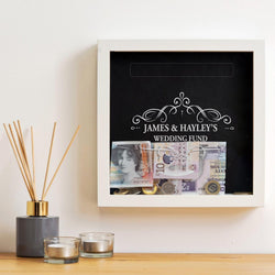 Personalised wedding fund savings frame