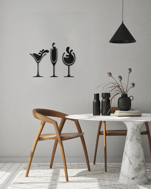 NEW! Cocktail Glasses Wall Art