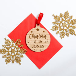 Christmas tree personalised decoration