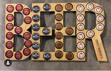 Beer cap word art sign