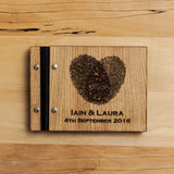 Personalised wooden guest book - A5 wedding, portfolio, memories book