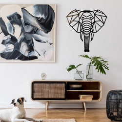 NEW! Geometric Elephant Wall Art Sign