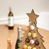 Personalised oak advent calendar for chocolates